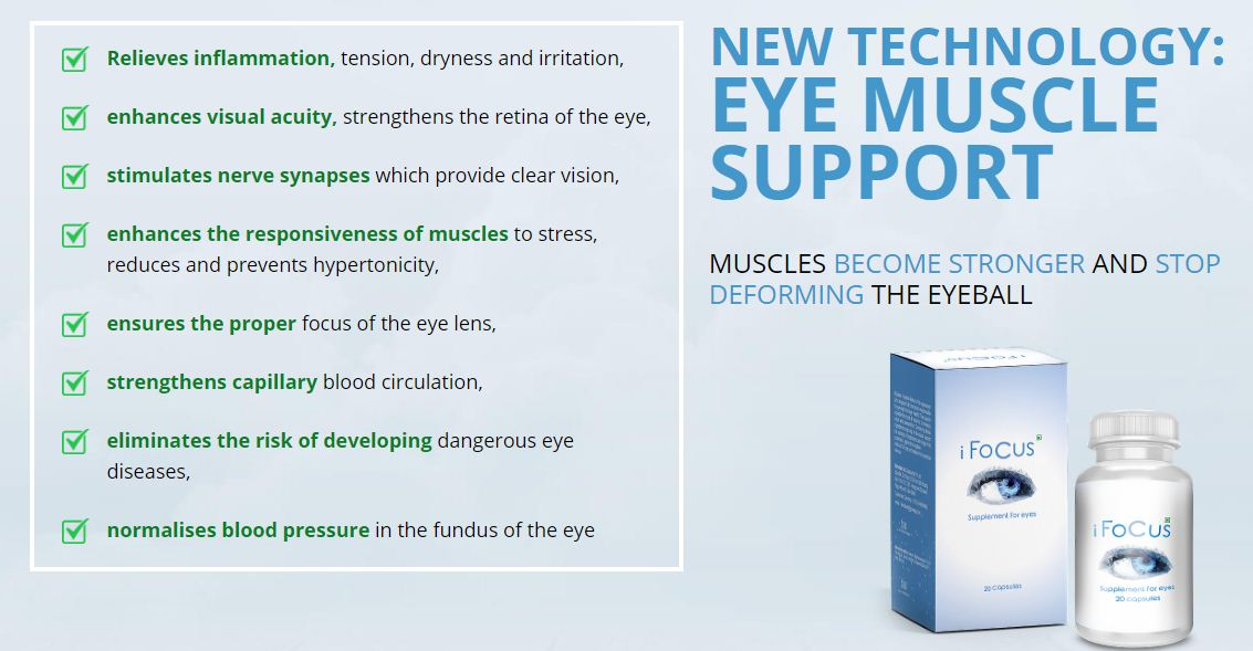 iFocus – Supplement Capsule for Eyes in India? 50% Price Order