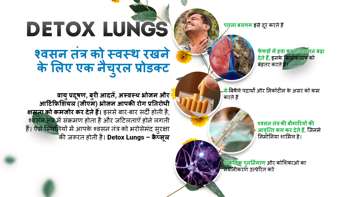 Detox Lungs – Capsule Help prevent the toxic effects In India? Order