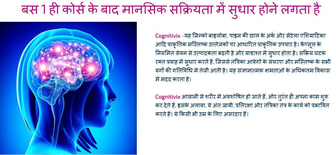 Cognitivix Capsules – Improves Memory And Attention! Price In India