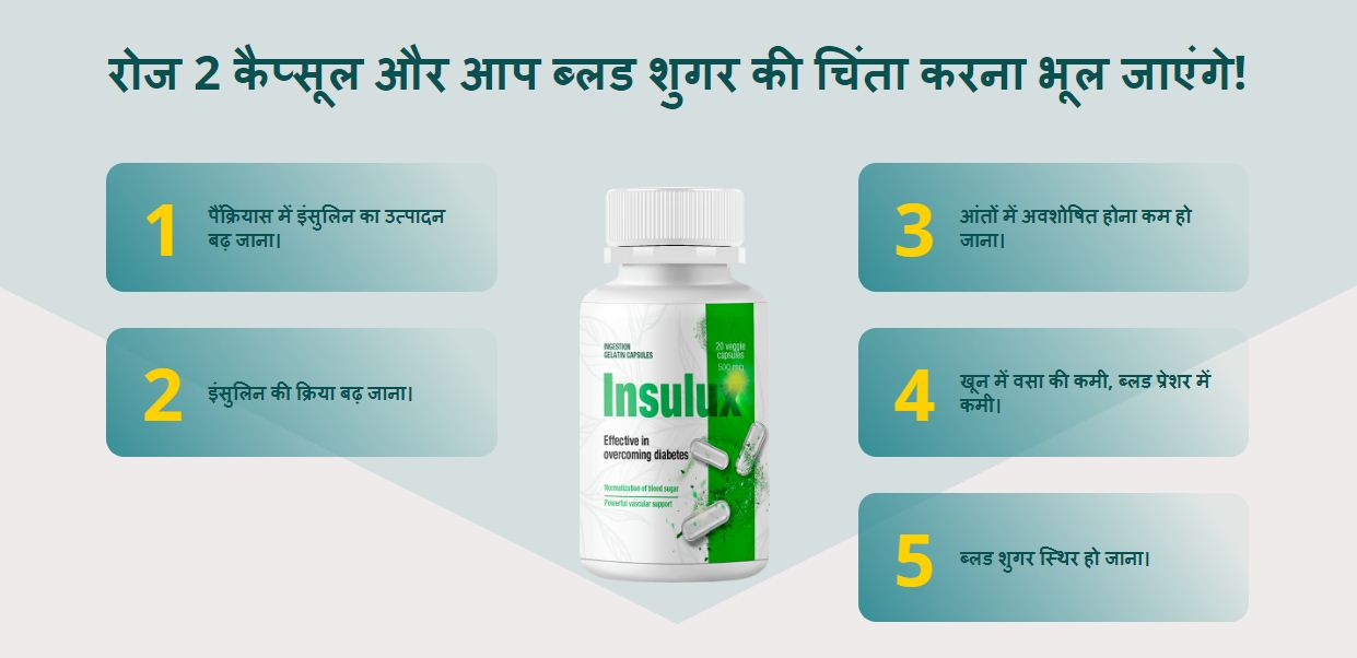 Insulux Capsules – Effective In Overcoming Diabetes Price In India! Order